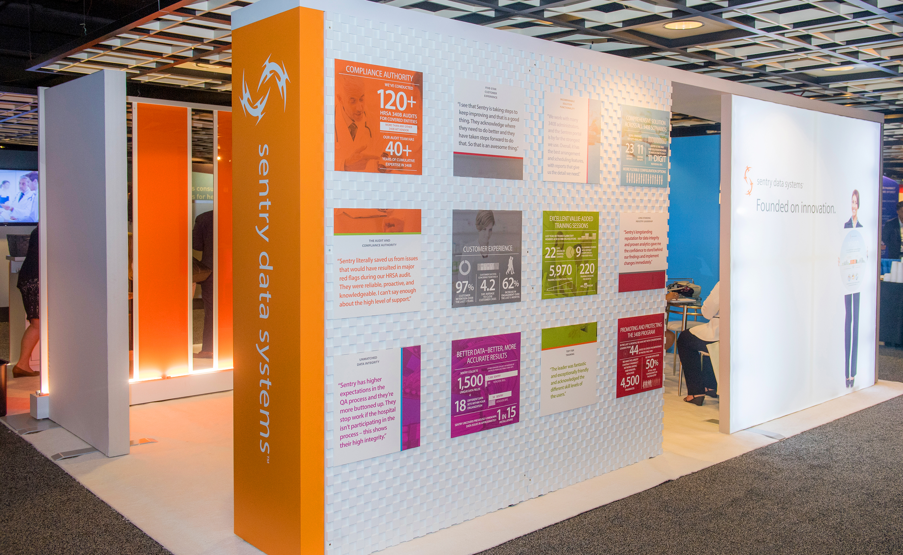 Trade Show Booth Graphic Design : Sentry data systems tradeshow booth infographics smart hive